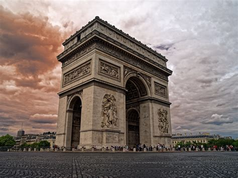 arc de triomphe paris france high resolution photography