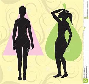 Female Body Types Chart Pear Spoon Triangle Body Type Royalty Free Stock