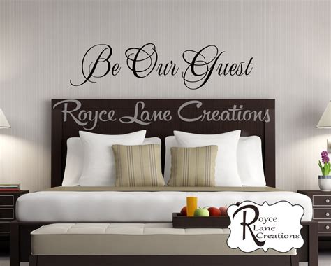 bedroom decor etsy be our guest bedroom wall decal guest room decor guest room 472 | il fullxfull.745699371 t8dm