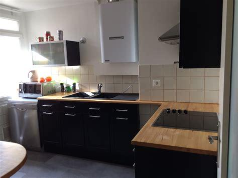 meuble de cuisine noir laqué meuble cuisine laqué noir cuisine idées de décoration