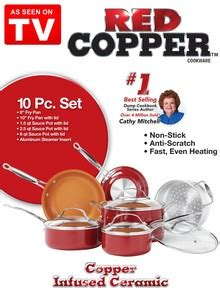 red copper  piece cookware set    tv