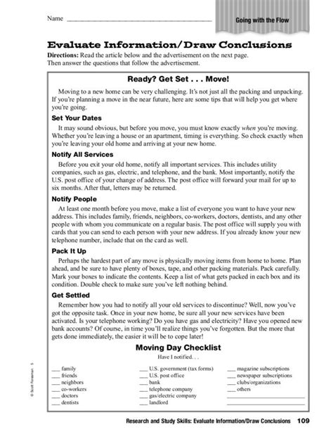 Drawing Conclusions Worksheets For 4th Graders  10 Free Reading Tests For Students In Grades 5