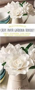 Papierblumen Aus Servietten : gardenia crepe flower tutorial blumen aus papier pinterest ~ Yasmunasinghe.com Haus und Dekorationen