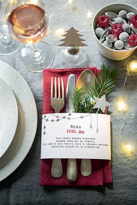 menu en papier pour votre table de fete noel deco