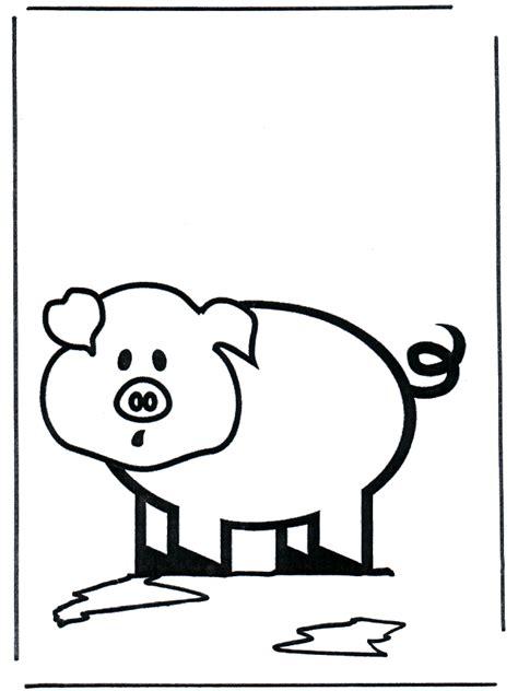 kinder varken kleurplaat dieren