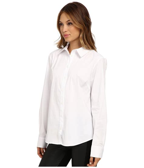 white button up blouse vince camuto sleeve button up blouse in white ultra