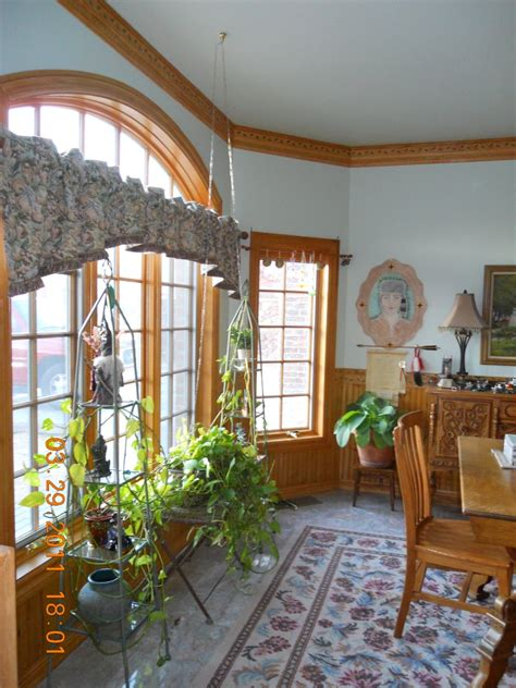trim details in the dining room of a storybook home homebuilding
