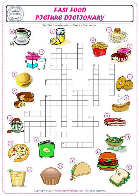 fast food esl printable english vocabulary worksheets