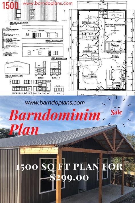 sq ft barndominium floor plan sale pole barn house plans barndominium plans metal house