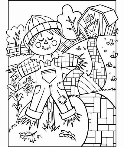 Scarecrow Coloring Pages Crayola Printable Fall Halloween
