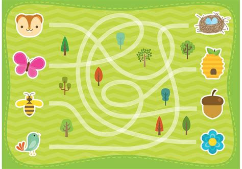forest labyrinth vector   vector art stock
