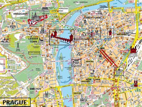 Carte Touristique Du Centre De La by Ville De Prague 187 Vacances Arts Guides Voyages