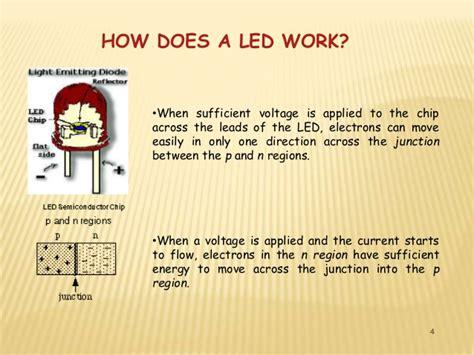 how do led lights work led light emitting diode