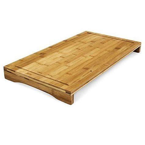 protege plan de travail cuisine planche à découper bambou protège plaque 52x29 cm achat