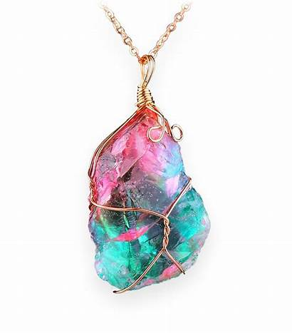 Crystal Pendant Rosa Aqua Order