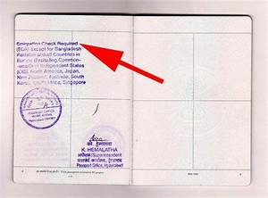How to check passport is ecr or ecnr on an indian passport for Passport documents non ecr