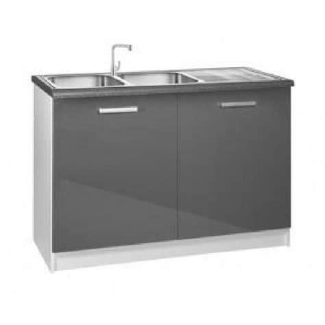 meuble de cuisine cdiscount meuble cuisine bas 120 cm sous évier tara gris achat