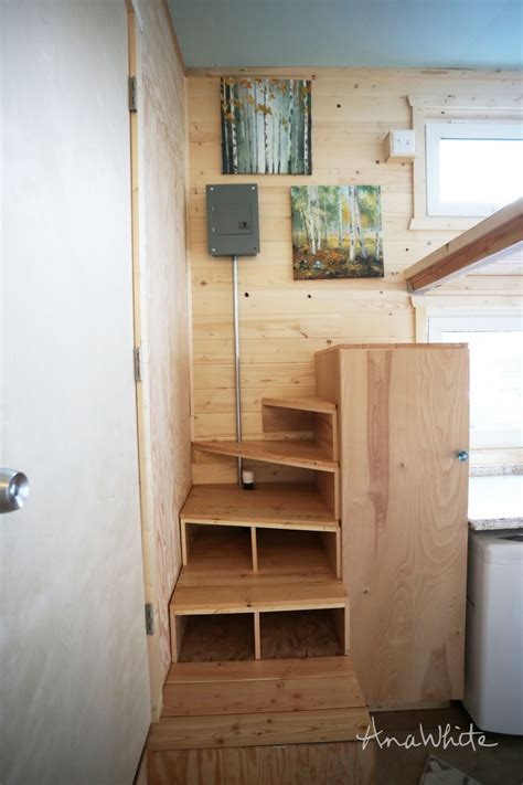 Ana White   Tiny House Stairs   Spiral Storage Style   DIY