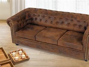 Chesterfield Sofa Wildlederoptik : chesterfield 3 sitzer sofa gobi braun ~ Indierocktalk.com Haus und Dekorationen