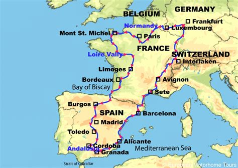 map france spain  travel information