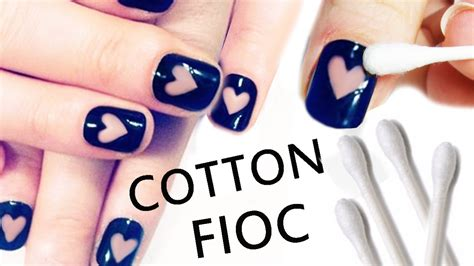 nail art tutorial facilissima  cotton fioc youtube