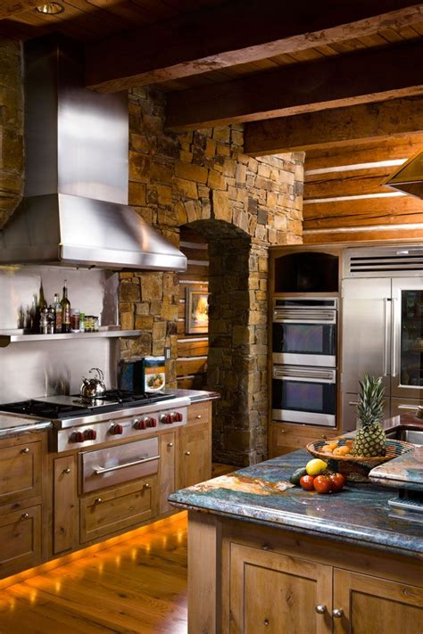 rustic cabin kitchen cabinets best 25 log cabin kitchens ideas on cabin 4962