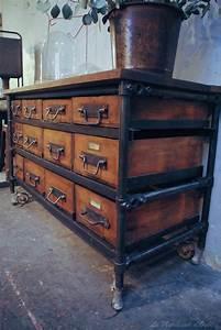 Meuble Bois Metal : ancien meuble d 39 atelier metal bois par le marchand d 39 oublis ~ Teatrodelosmanantiales.com Idées de Décoration