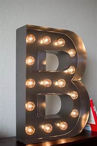 vintage inspired marquee light letter b by saddleshoesigns With marquee letter lights hobby lobby