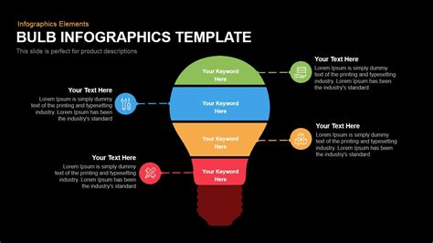 bulb infographics template powerpoint  keynote template