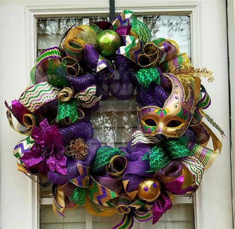 Mardi Gras Mask Door Decoration by Sale Mardi Gras Wreath Mardi Gras Decoration Wreath For