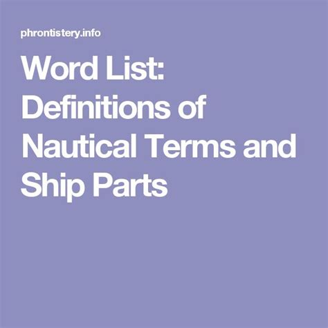 Boat Terms List by 25 Best Ideas About Nautical Terms On Sailing