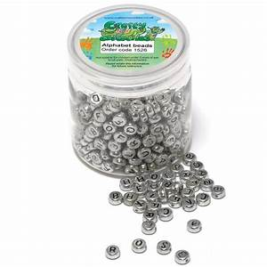 400 silver alphabet beads beadcraft from crafty for Letter beads
