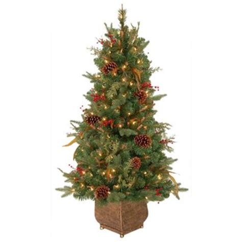 holiday living 4 ft indoor outdoor feather pine pre lit