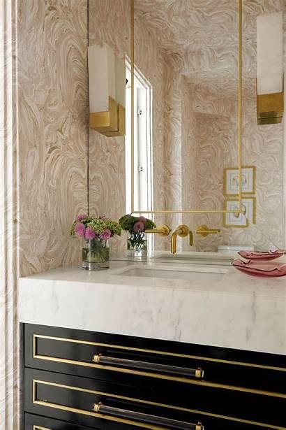 Powder Gold Vanity Bathroom Sink Pink Lighting