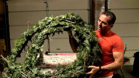 easy diy  cost real christmas garland youtube
