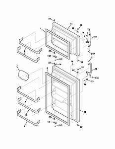 Door Diagram  U0026 Parts List For Model 25360884400 Kenmore