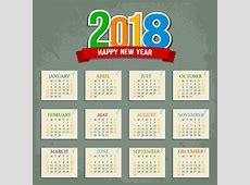 2018 calendar vector free vector download 1,524 Free