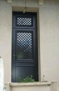 Porte Entrée Aluminium Rénovation : porte d 39 entr e battante en aluminium semi vitr e ~ Premium-room.com Idées de Décoration