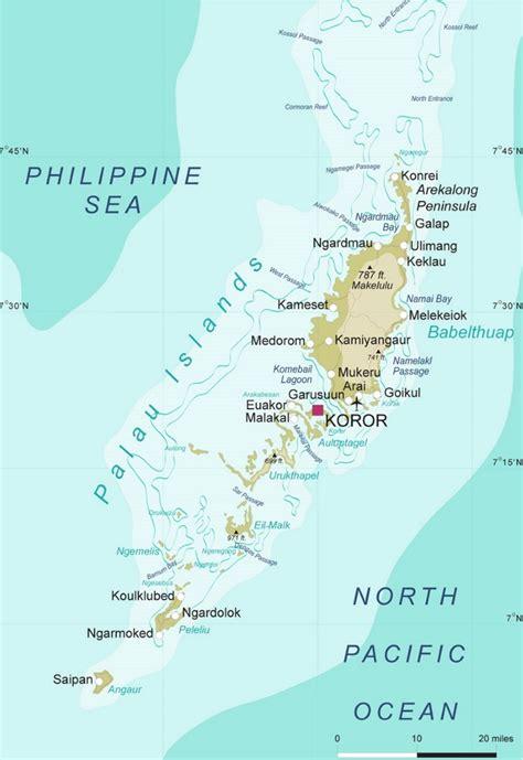 detailed map  palau