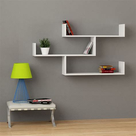 modern multi purpose decorative contracted floating wall shelf  colors