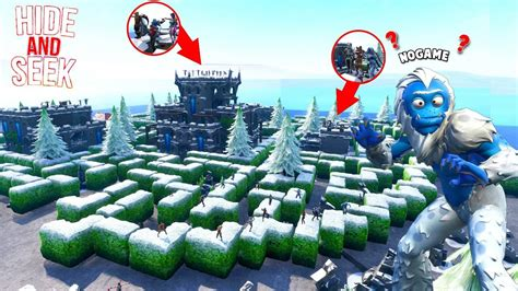 impossible fortnite maze hide  seek map fortnite