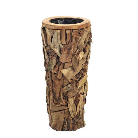 vaso legno vaso cachepot legno naturale etnico outlet mobili etnici