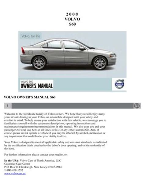 auto repair manual free download 2008 volvo s60 electronic valve timing download 2008 volvo s60 owner s manual pdf 230 pages