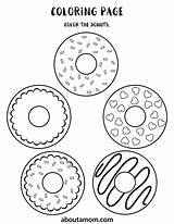 Donut Printable Activity Coloring Pages Bottom Sheets Word Drawing Maze Finish Fun Match Themed Aboutamom sketch template