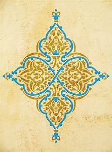 Bettwäsche Orientalisches Muster : arabeske wandschablonen f r orientalisches wohnen ~ Whattoseeinmadrid.com Haus und Dekorationen