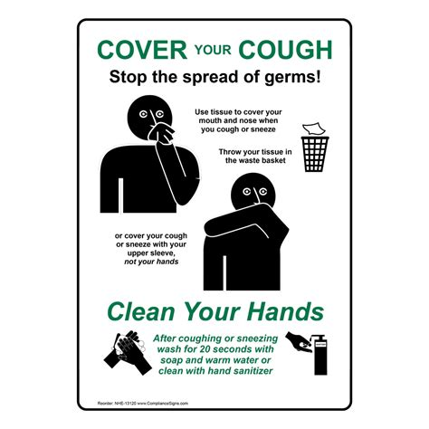cover  cough stop  spread  germs sign nhe