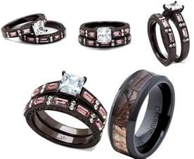 camo wedding ring sets for him and pink camouflage wedding ring sets caymancode