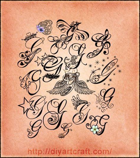 16 Lettere Stilizzate Maiuscola G Corsivo Elegante E