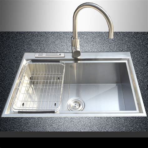 top kitchen sink faucets 28 quot x 18 quot 18 stainless steel single bowl made