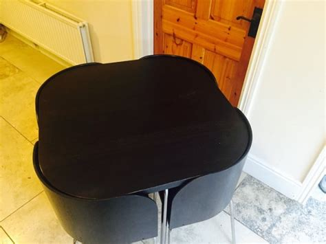 ikea fusion 4 place dining table and chairs for sale in